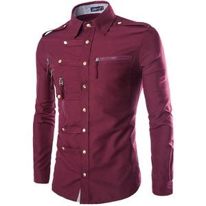 Image 3 - מותג גברים חולצה 2020 אופנה עיצוב Mens Slim Fit כותנה שמלת חולצה אופנתי ארוך שרוול חולצות תחתונית Homme Camisa Masculina