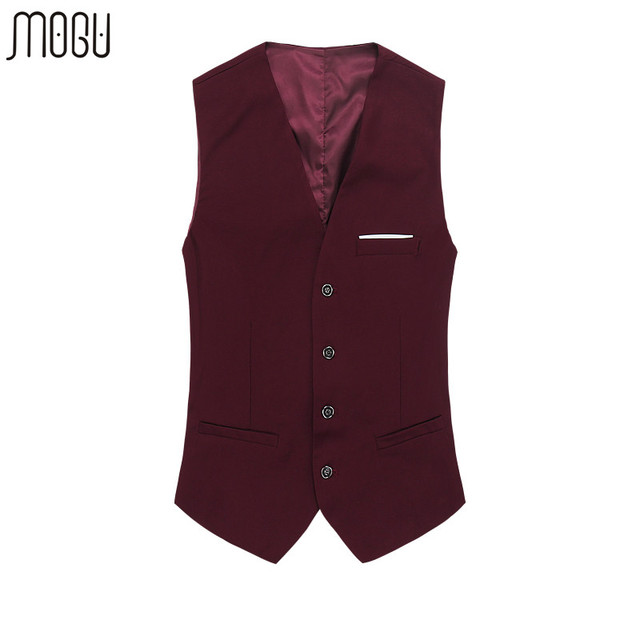 The New Men's Blazer Vests 2016 Plus Size 5XL 6XL Red Solid Autumn Suits Cotton Business Fashion Male Vest Single Breasted Fit