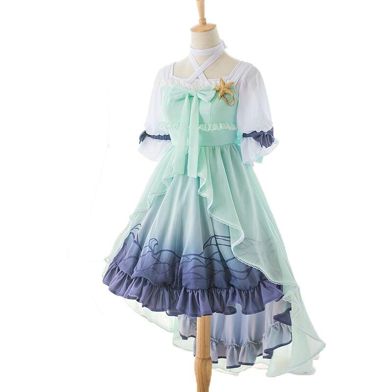Cardcaptor Sakura кимоно Сакура Томойо Daidouji морской принцессы короче спереди и длиннее сзади) платье для костюмированной вечеринки в стиле Лолиты;