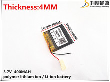 3.7V 400mAh 403030 Lithium Polymer Li-Po li ion Rechargeable Battery cells For Mp3 MP4 MP5 GPS PSP mobile bluetooth