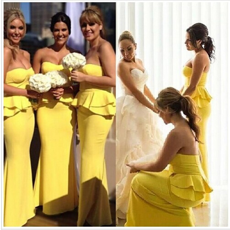 Online Buy Wholesale yellow bridesmaid gowns from China yellow ...