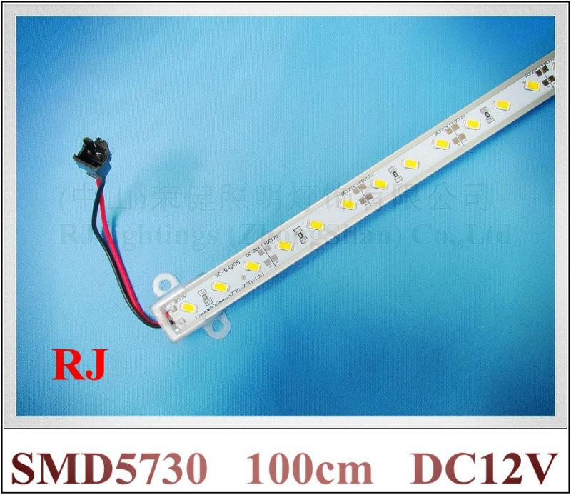 SMD 5730 LED light bar 5730 LED counter light LED rigid strip hard strip light bar DC12V 100cm 72 led Fedex free shipping