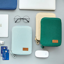 1Pcs Kawaii Pencil Case Bag Canvas Zipper Large Capacity Cute Portable Storage Office & School Supplies korean stationery