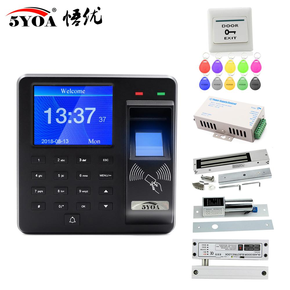 Fingerprint RFID Access Control System Smart Door Lock Electronic Gate Opener Home Digital Set Electric Magnetic Biometric