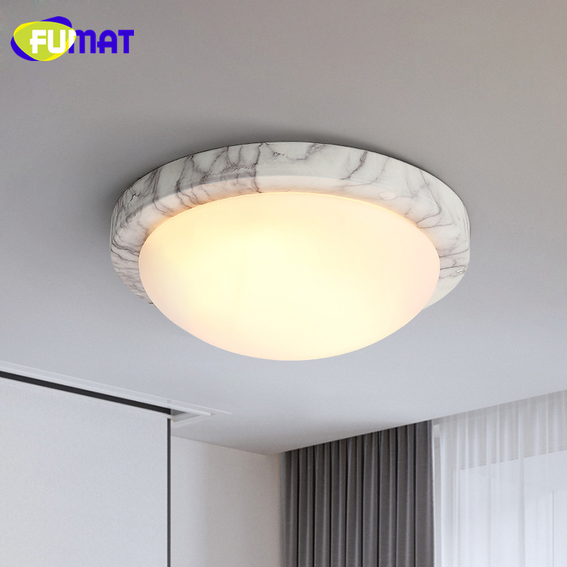 FUMAT Modern Minimalist Bedroom Ceiling Light Corridor Balcony Glass Lampshade Light Kitchen Round Metal Ceiling Lamps loft style metal cage ceiling lights hotel corridor creative ceiling lamps restaurant aisle balcony kitchen for home lighting