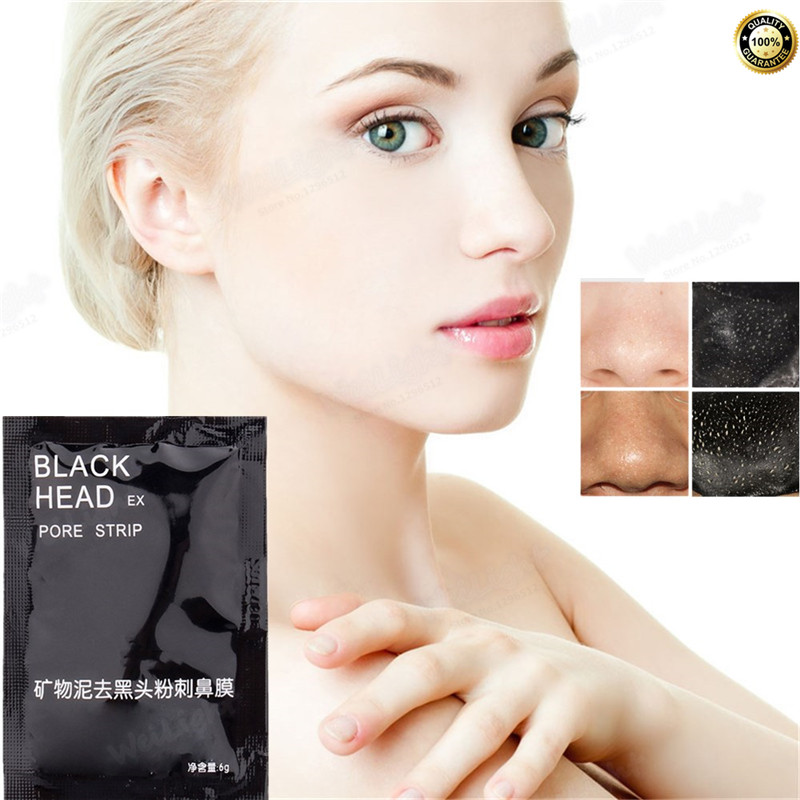 Fast effect Bamboo Charcoal Nose Blackhead Remover Mask, Skin Care Beauty Mask, Acne Treatment Mask Face Care Black Head Mask