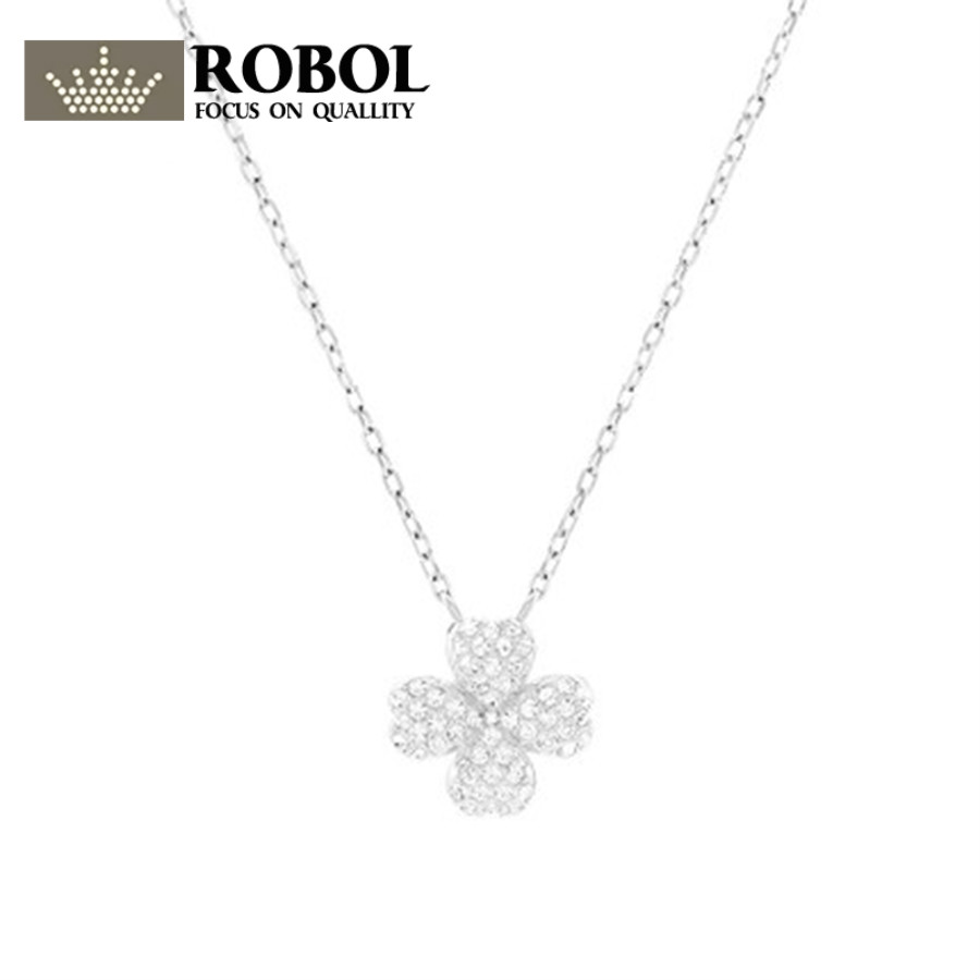 2018 SWA white Four-leaf clover Necklaces Official 1:1 Has the Logo. Elegant Ladies JEWELRY Free Package Mail