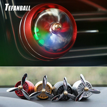 Car Perfume Diffuser Air Freshener LED Light Force 3 Vent Outlet Clip Automobiles Decor Propeller Fragrance Smell Ornament