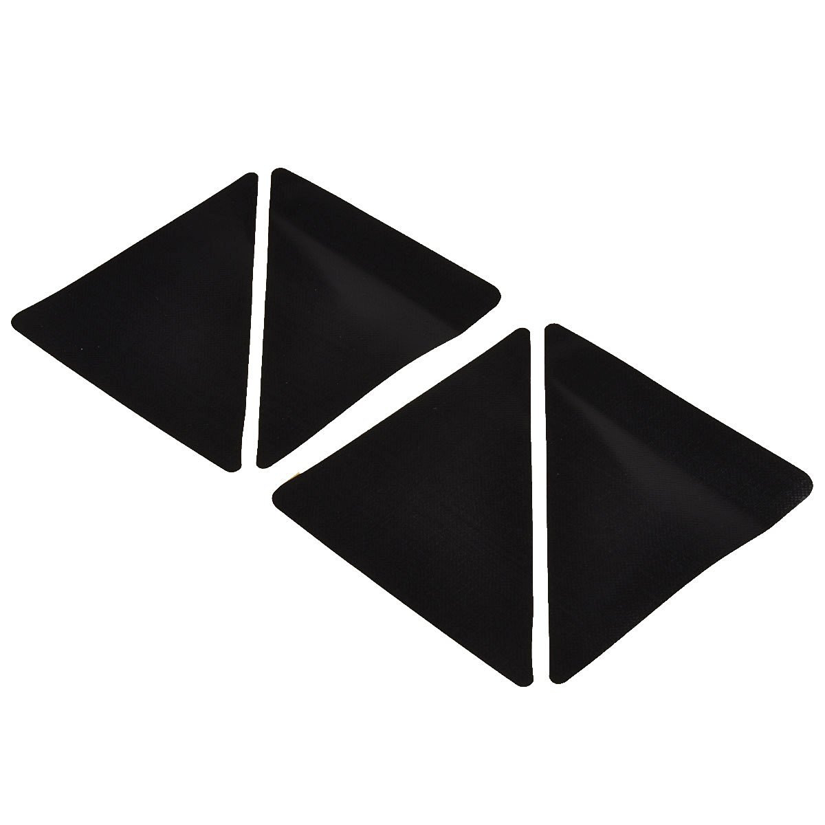 4 Pcs/set 15*7.5cm Reusable -shaped Anti-skid Rubber Floor Carpet Mat Rug Gripper Stopper Tape Sticker (Black)