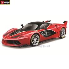 цена на Bburago 1:18 Ferrari FXXK black car model 1 18 simulation alloy original Rafa sports car model super running car model gift