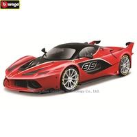Bburago 1:18 Ferrari FXXK black car model 1 18 simulation alloy original Rafa sports car model super running car model gift