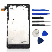 LCD Display Touch Screen Digitizer With Bezel Frame Assembly + Tools + Logo For Microsoft Nokia Lumia 540 N540 Free Shipping