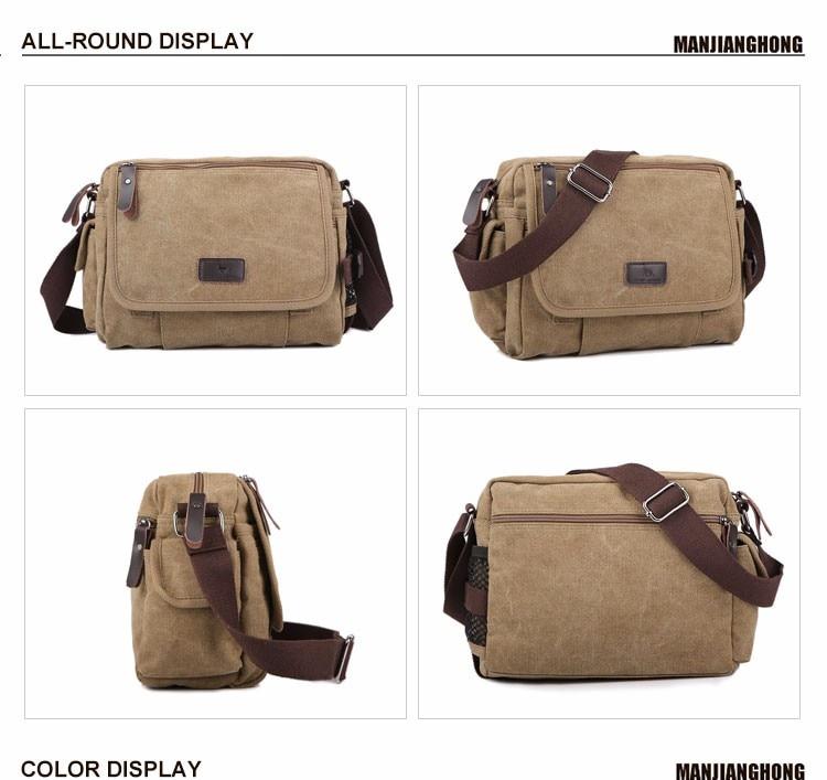 41f7c758dece Vintage Retro Canvas Men Messenger Bags Small Solid Color Casual Crossbody  Shoulder Bag Men Leisure Sling Bag Male Handbag 1106