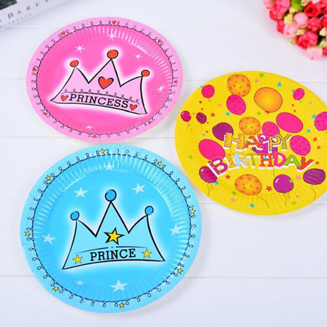 10 pieces high quality birthday disposable plates cake paper plates baby shower candy plates birthday party  sc 1 st  AliExpress.com & 10 pieces high quality birthday disposable plates cake paper plates ...