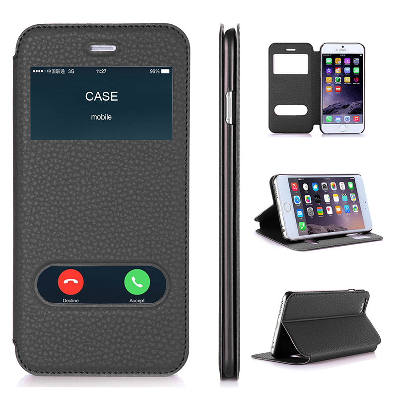 Case for Apple iPhone 6 Plus و iPhone 6S Plus Luxury PU چرم Flip Flip Wallet Cover Cover with Kickstand Capa Cases Phone 5.5 اینچ
