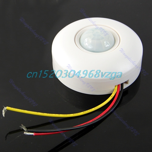 IR Infrared Motion Sensor Lamp Ceiling Wall Automatic Light Control Switch White #H028# стоимость