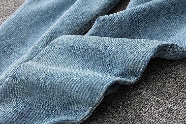 19 korean style women pencil denim pants high waist jeans woman casual vintage jeans boyfriend mom jeans light blue streetwear 20