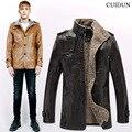 Мужская искусственного меха пальто великобритания плюс размер стенд воротник epaulet одного грудью кожаные куртки для мужчин шерстяное пальто молодой человек долго замша