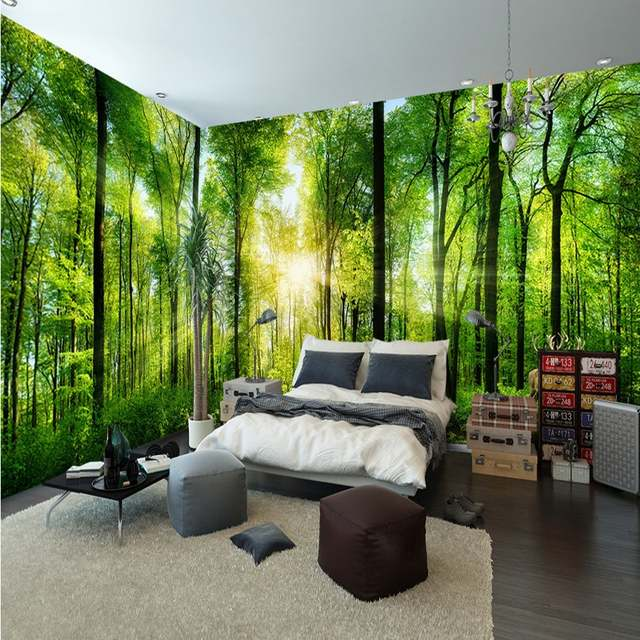 Us 10 96 42 Off Custom 3d Mural Jungle Forest 3d Landscape Background Wall Painting Home Decoration Bedroom Living Room Wallpaper Mural In