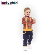 Комбинезон Lucky Child без начёса для мальчиков, арт. 27-1 (Мужички) [сделано в России, доставка от 2-х дней]