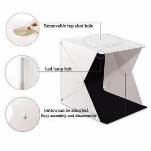 Image 5 - Baolyda Taşınabilir LED Stüdyo Fotoğraf Kutusu 24/30/40 cm fotoğraf stüdyosu aksesuarları Siyah/Beyaz Arka Plan Fotoğraf stüdyo Softbox