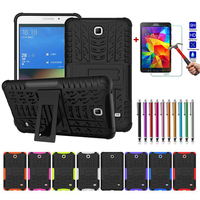 Hybrid Armor Stand Tablet Case For Samsung GALAXY Tab A T280 E 3 Lite T110 T230