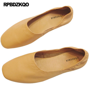 Flats Ballerina Designer Slippers Brown Women Ballet Ladies Slip On Mules Elderly Square Toe China Traditional Chinese Shoes