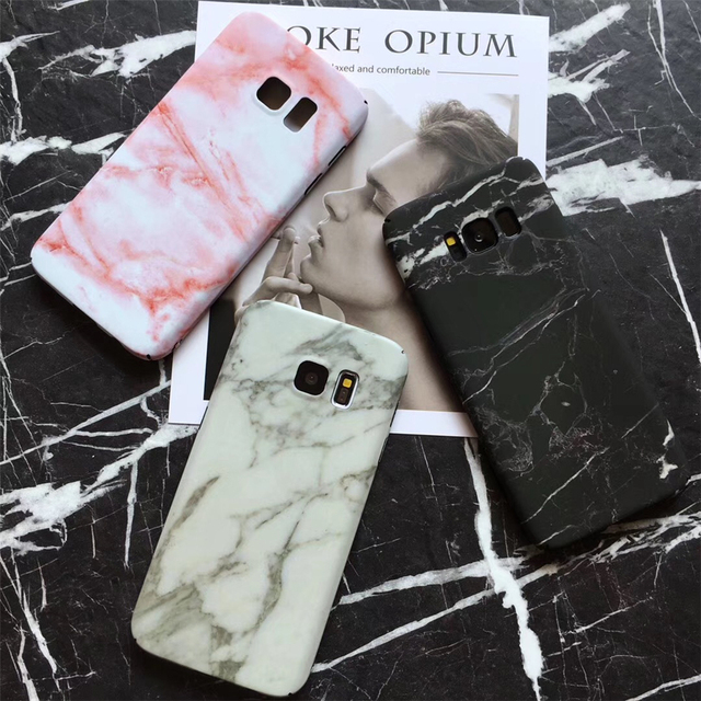 lowest price 4a0a8 4942a US $3.88 |Black White Marble Phone Case For Samsung Galaxy S8 S8 Plus For  Galaxy S7 Hard PC Marble Stone Painted Cover Capa Fundas Coque-in Fitted ...