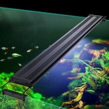 Iluminación LED para acuario de 29 72cm, iluminación de plantas acuáticas, lámpara de luz para pecera con soportes extensibles
