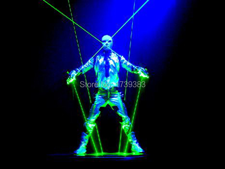 532nm 100mw Double Headed lends Green Laser Sword with stars sky DJ Dancing Stage Show font
