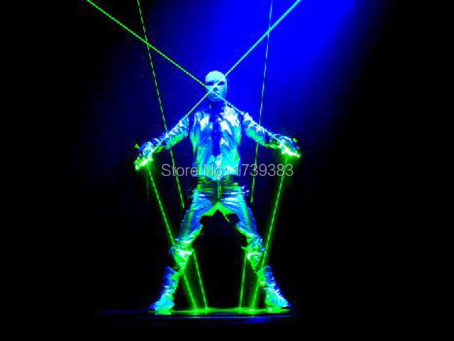 Espada Laser Verde 532nm 100 mw Duplo-Headed empresta com as estrelas do céu Dança DJ Stage Show de Luz de star wars espada de laser do estágio adereços