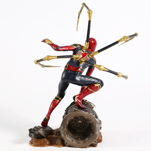 Image 5 - Iron centre Iron Spider Spiderman scala 1/10 PVC Figure Toy Model da collezione