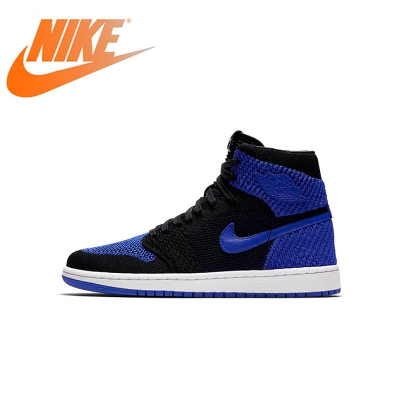 Original Authentique NIKE Air Jordan 1 Flyknit AJ1 basketball pour hommes Chaussures Respirant anti-dérapant Athlétique Designer Chaussures 919704