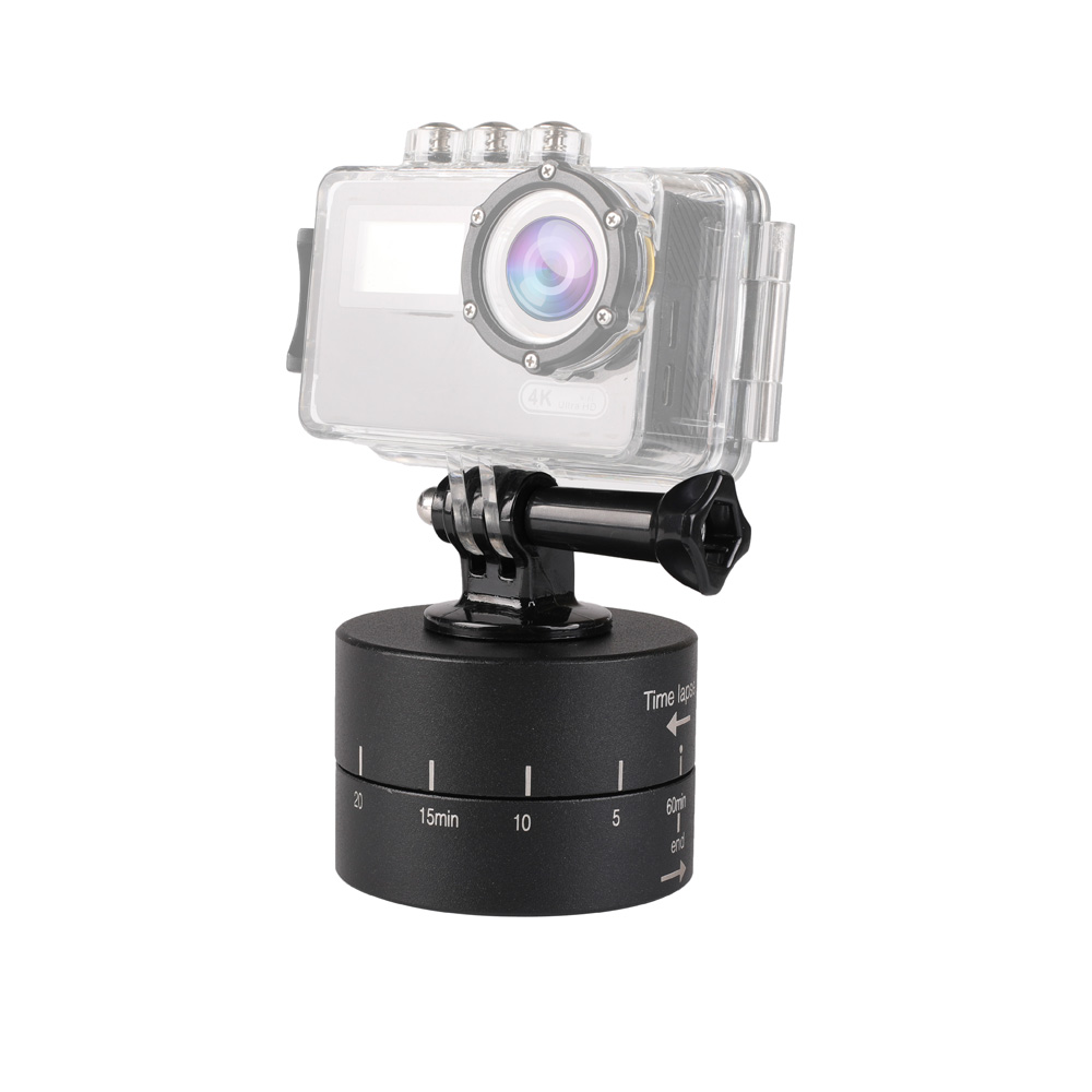 Kaliou Time Lapse Shooting 60min Timer 360 Degree Rotating Tripod Delay Stabilizer Tilt Head for Gopro 7 6 5 4 3+ SJCAM Xiaomi Y-in Tripod Heads from Consumer Electronics