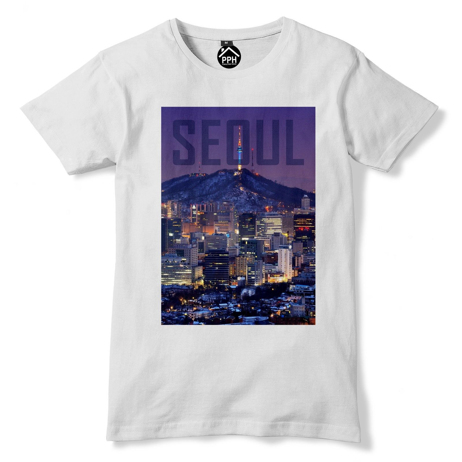 Seoul Tshirt South Korea T Shirt Asia Top Cityscape Skyscrapers Dongdaemun 154 Summer The New Fashion