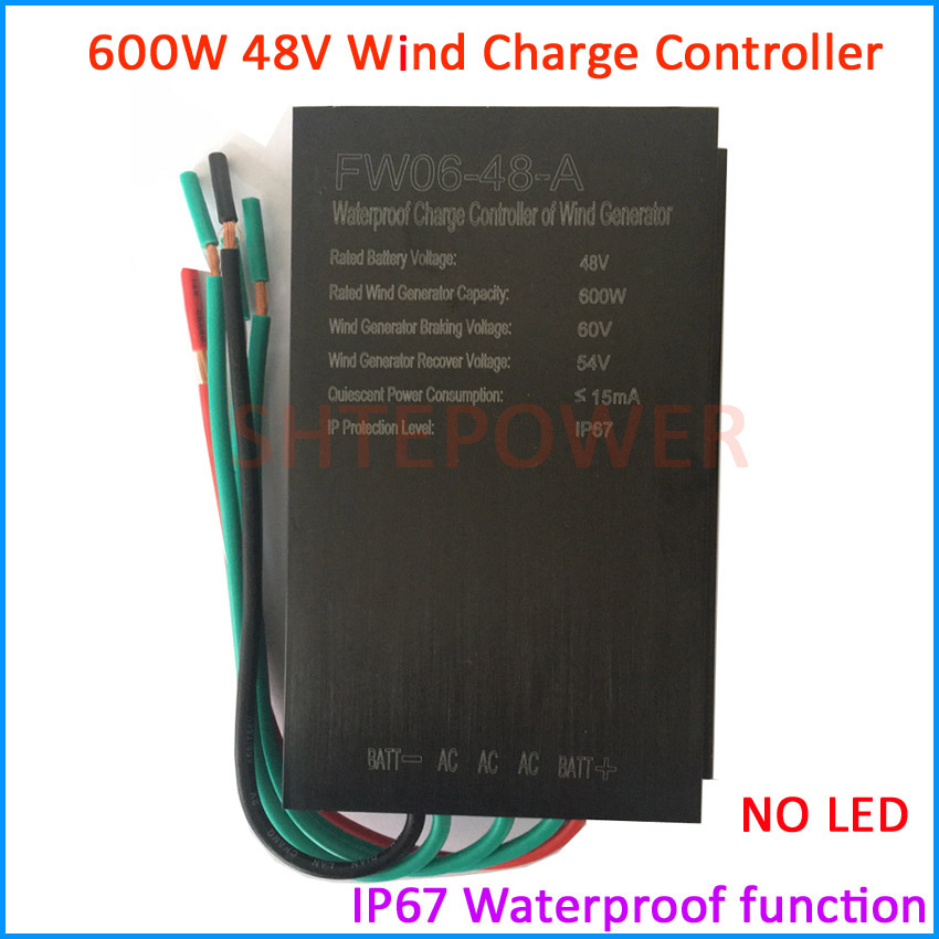 Controller with LED 600W 48V AC wind power generator application free shipping wind charger regulator free shipping wind controller battery charger 500w 48v with led wind power generator system use