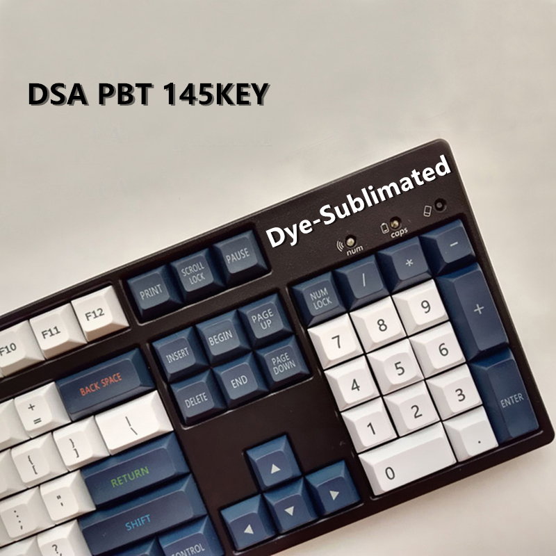 DSA PBT 145 keycaps Perfect Arc Spherical Keycap Dye-Sublimated Cherry MX Switch Keycaps for Mechanical Gaming keyboard pbt keycap oem height poker 2 mechanical keyboard cherry mx switch keycaps kbt poker ii keycap multicolor keycap