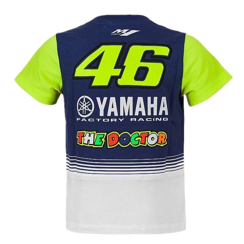 2017 Nuova Moto GP IL Medico Kid T-Shirt Bambini Per Il Tempo Libero t-shirt Fit per Yamaha M1 VR46 Valentino Rossi del Bambino del capretto t-shirt