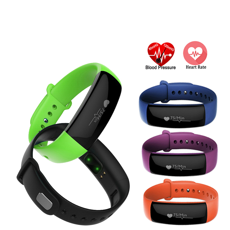 все цены на smart watch Blood Pressure Heart Rate Monitor Bracelet Sports Fitness Smartwatch Watch for Android iOS PK Mi band 2 Fitbits онлайн
