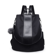 New Hot Sale Korean Style Women Fashion Backpack Waterproof Nylon Anti-theft Rucksack Lightweight Shoulder Bag
