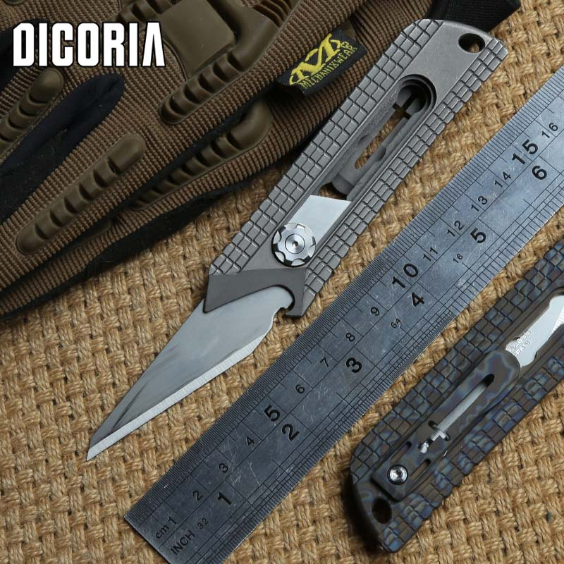 DICORIA MG Original Paper cutter Cuttin knife Titanium Handle Olfa stainless steel blade Pruning outdoor camping knives EDC tool