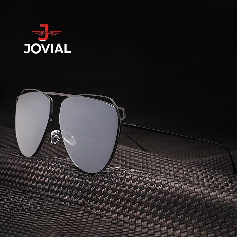 JOVIAL 2018 Mode Cat Eye lunettes de Soleil En Métal Femmes Populaire Soleil  De Marque De Luxe Femmes Simple Style UV400  79147 dans Lunettes de soleil  de ... 410fb6845a56