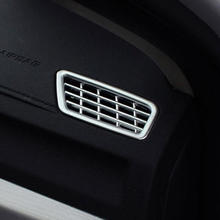 For Geely Atlas 2016 2017 2018 ABS Plastic Chrome Accessories Car front Air conditioning Vent outlet frame panel Cover Trim 2pcs