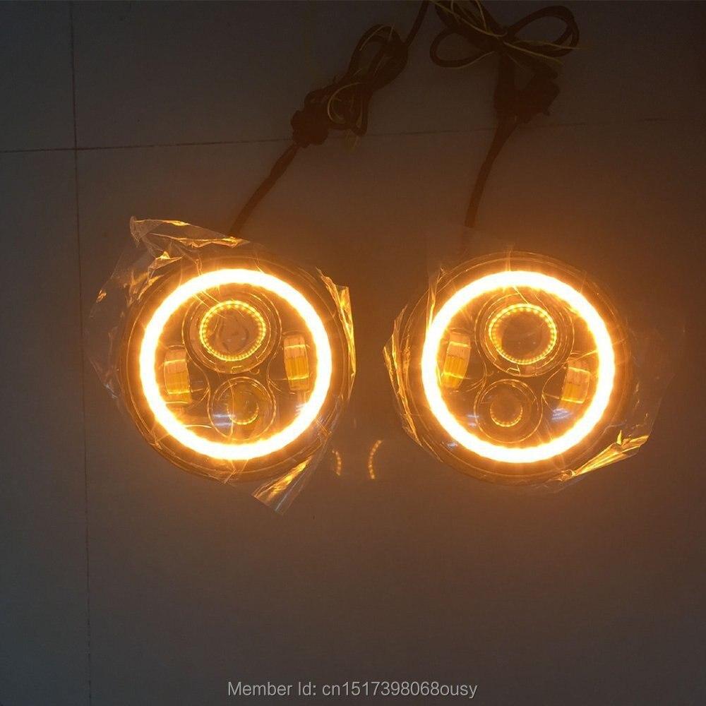 97-15 Jeeps Wrangler üçün LED gözləyən faralar Angel gözləri - Avtomobil işıqları - Fotoqrafiya 4