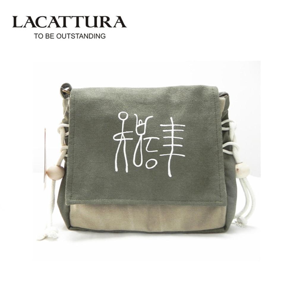 LACATTURA 2017 New Arrivel Women Messenger Bags Stylish Bolsas Vintage National Crossbody Female Bags