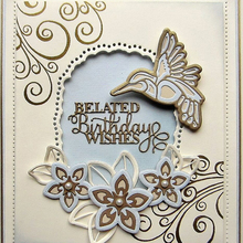 Belated Birthday Wishes Metal Cutting Die Craft Stencil Card Album Photo Making Scrapbooking Handicraft DIY Template New 2019