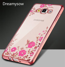 Glitter Floral Case For Samsung Galaxy A70 A60 A50 A40 A30 A10 A2 Core M20 M10 S10 A6 A8 Plus A7 2018 J3 J5 J7 2017 Soft TPU Bag(China)