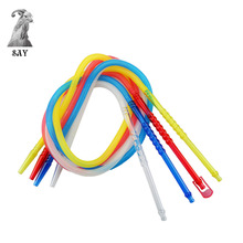 цена на SY 1pc Pageant Colorful Shisha Pipe Long Mouth Pipes Hookah Hose Accessories Plastic Pipe