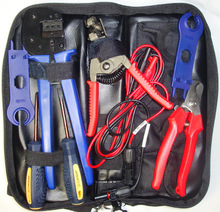 MC4 solar PV tool kits, with test cable RX-K3, for 2.5/4/6mm sq (10/12/14AWG) PV cable, for MC4/MC3 solar connector tool
