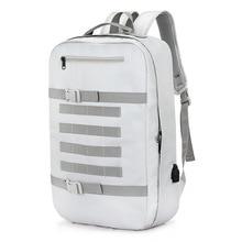 OZUKO Multifunction USB Recharging Men Backpack Large Capacity Waterproof Travel Male Rucksack Mochila Fashion Student Schoolbag